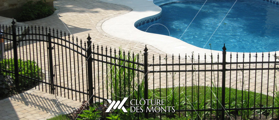 Cl tures ornementales cl ture des monts for Cloture pour piscine